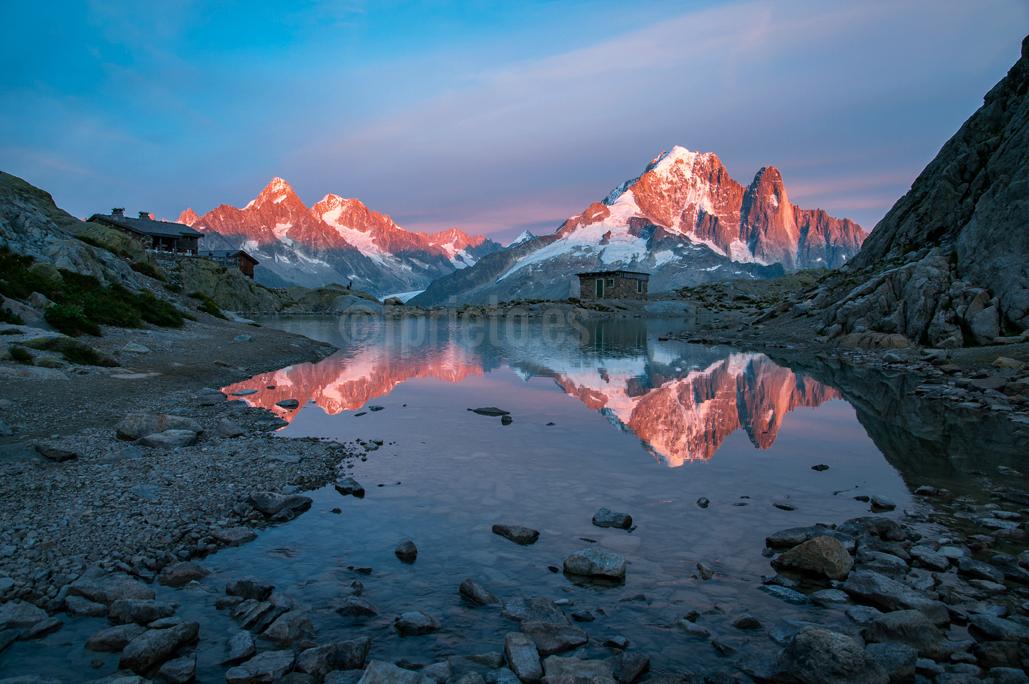 Viaje a Alpes. Atardecer en el Lago Blanco