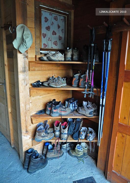 Calzado en los refugios de montaña