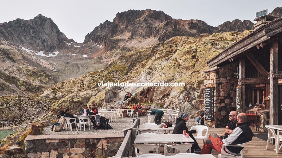Refugio Lac Blanc, Aiguilles Rouges, Alpes franceses - Chamonix